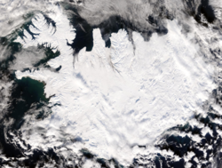 Iceland covered by snow
